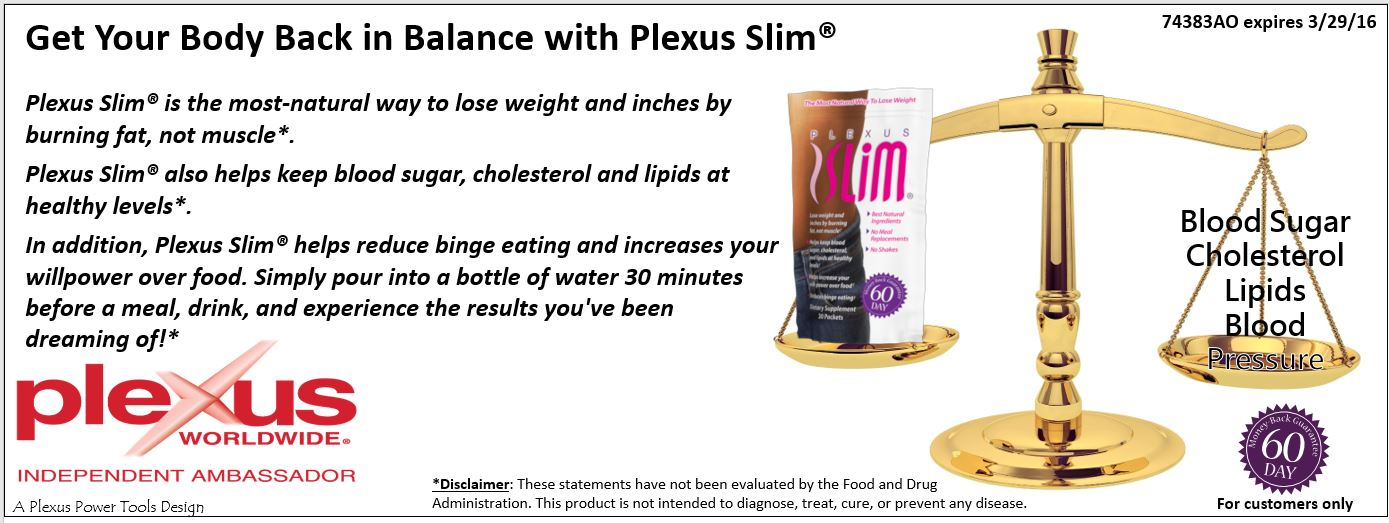 BANNER - Get your body back in balance with Plexus Slim(2)